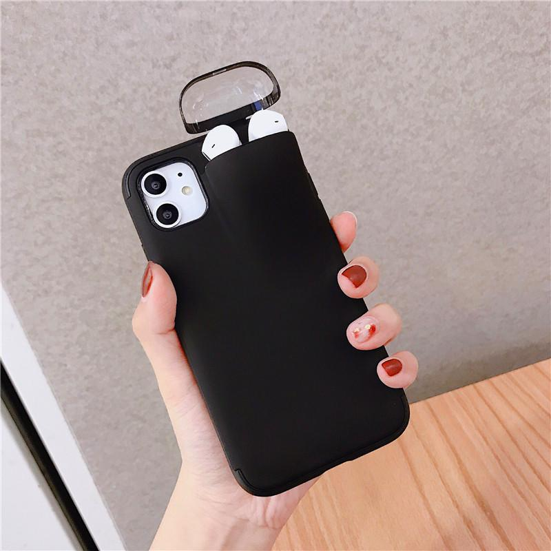 Luxury 2 In 1 Phone Cases With Earphone Case Unified Storage