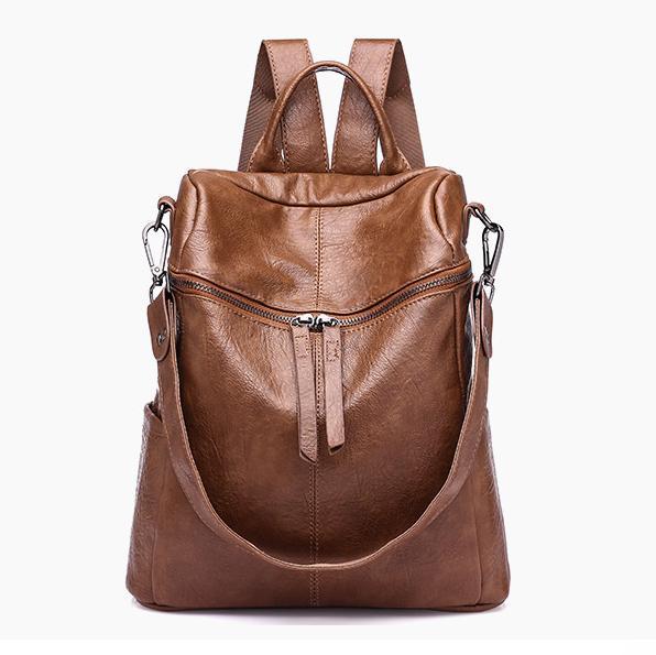 2018 Women Backpack Pu Leather Daypack Fashion Backpacks Female Mochila Feminine Casual Large Capacity Vintage Shoulder Bags Y19051405