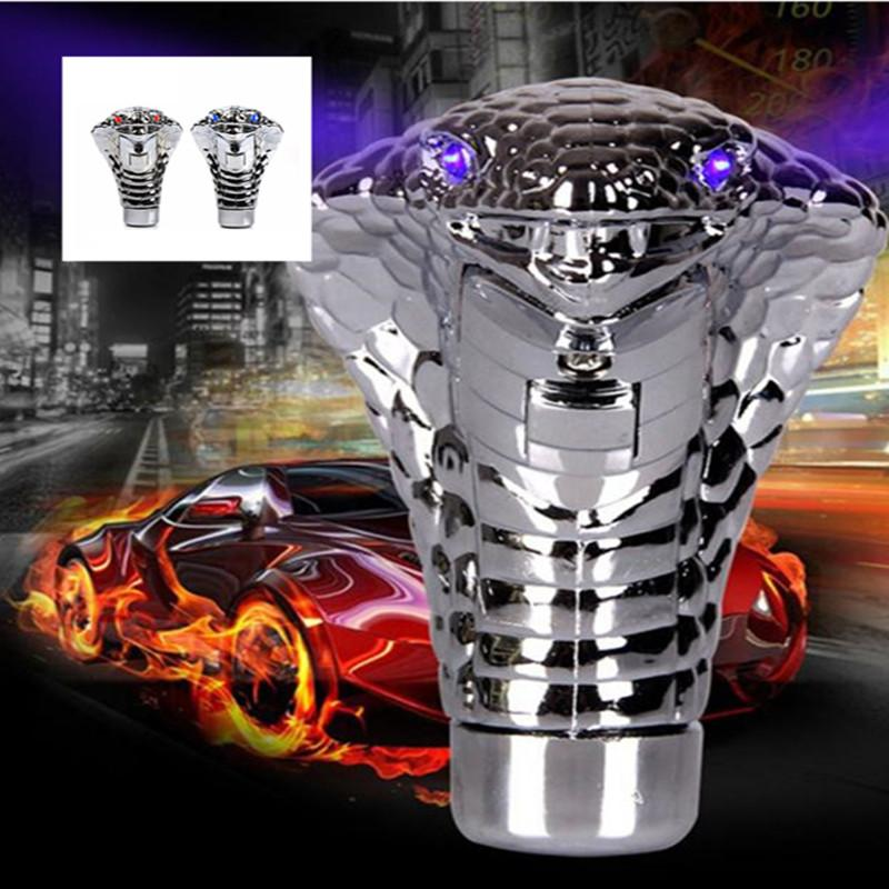 Universal Manual / Automatic Cobra Head Car Gear Shift Knob Stick Shifter Gear Shifting Knob Car LED Light Handle Shifter