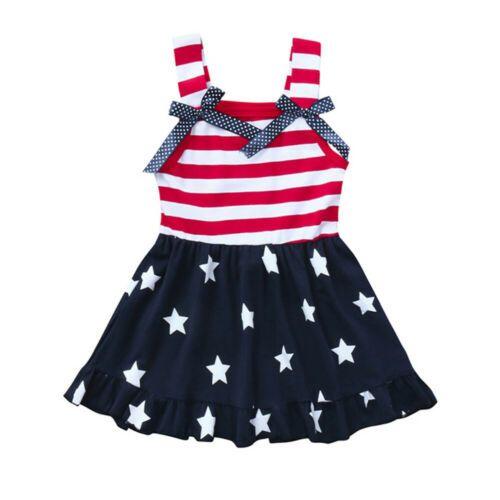 2019 Date Style mignon bambin bébé enfants filles printemps été sans manches rayé tutu princesse robe robe d'été tenues 2-6 ans