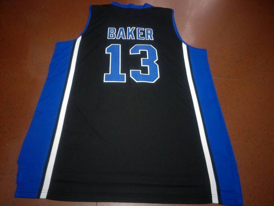 ÖZEL Siyah Duke Blue Devils # 13 Joey Baker Gerçek nakış Koleji Basketbol forması Boyut veya özel herhangi bir ad veya numara formayı-4XL S