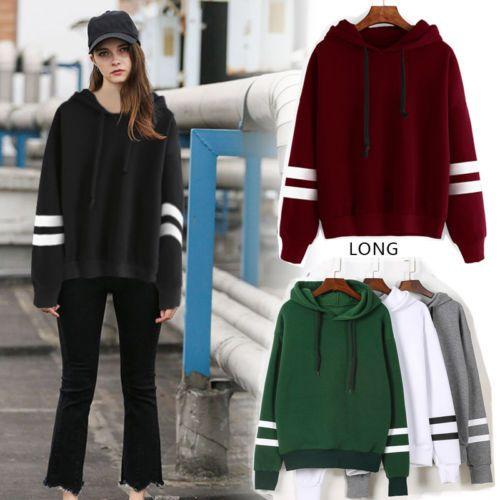 Der Herbst-Winter-mit Kapuze warme Pullover der Frauen übersteigt langärmlige Hoodies Sweatshirt-Pullover