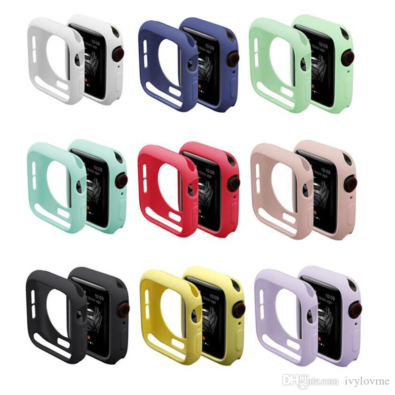 New Resistance Soft Silicone Case for Apple Watch iWatch Series 1 2 3 4 Cover Full Protection Case 42mm 38mm 40mm 44mm Band Accessories