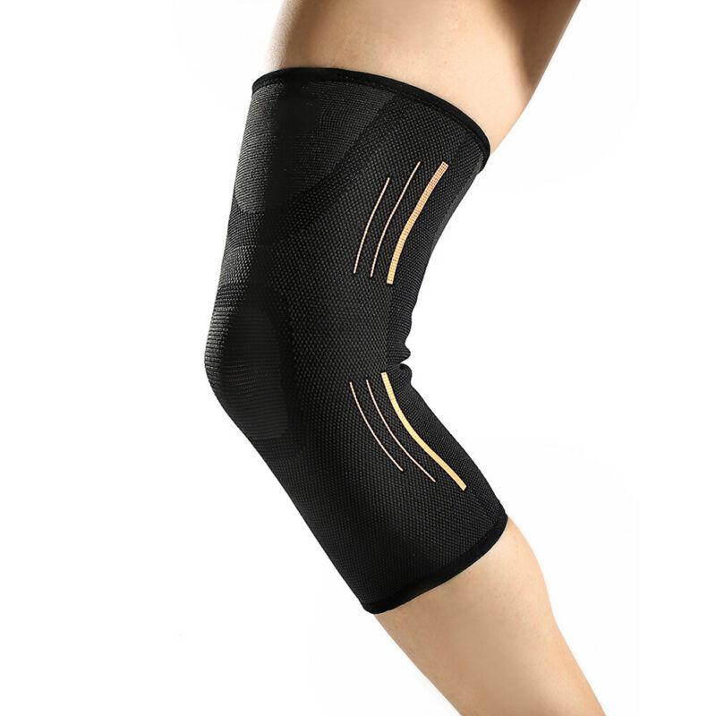 Joelho 1pc Sports Academia Knit Suporte Brace Knee Protector Correndo Ciclismo Joelheiras