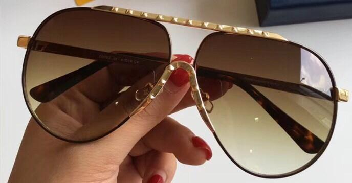 Wholesale-Z0982E Sunglasses For Men UV Protection Lens 0982 Fashion Oval Coating Mirror Lens Frameless Color Plated Frame Come With Package