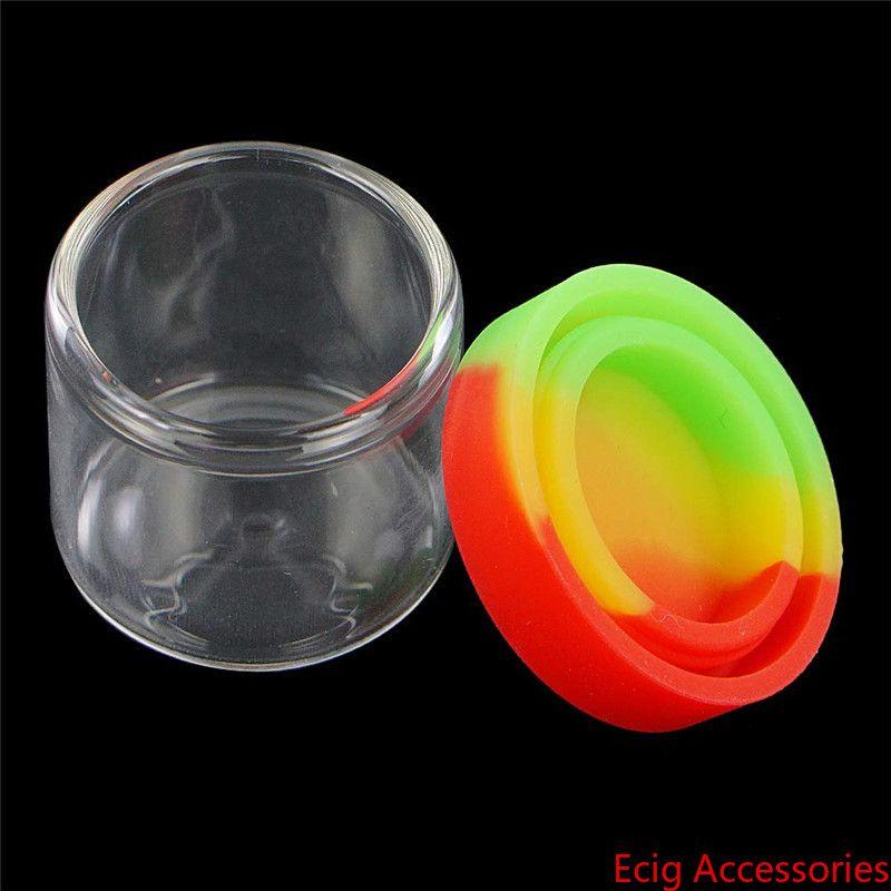 Glasflasche mit Silikonabdeckung 6ml Siliziumbehälter nonstick Wachses Behälter box Werkzeuglager jar Ölhalter dab food grade Krügen