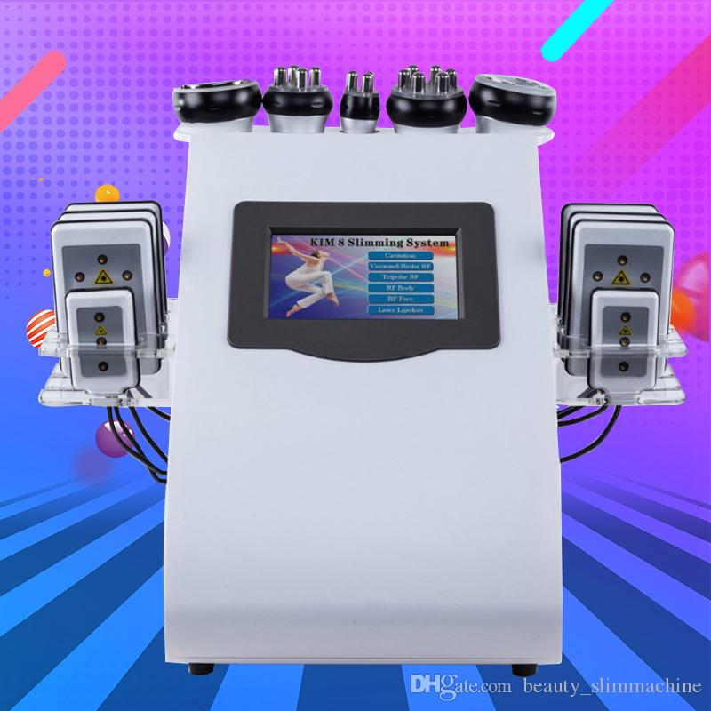 Nuovo modello di alta qualità liposuzione ad ultrasuoni cavitazione 8 pads LLLT laser lipo macchina dimagrante vuoto RF cura della pelle salone attrezzature spa