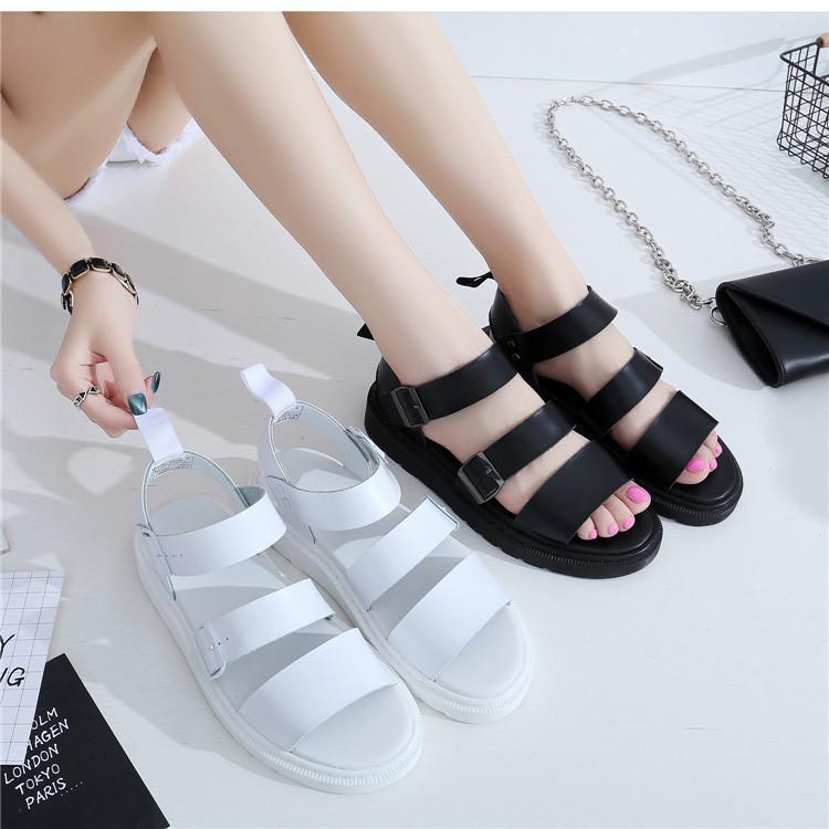 donne di cuoio Vendita-uomini genuini caldi dei sandali casuali delle donne traspirante, scarpe spessi del tallone sandalo estivo con sandalo con cinturino tripla per zy229 unisex