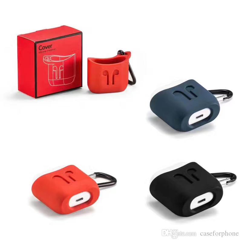 لينة TPU سيليكون حالة سماعات بلوتوث اللاسلكية للحصول على AirPods الغطاء الواقي الجلد الملحقات لابل Airpods شحن مربع
