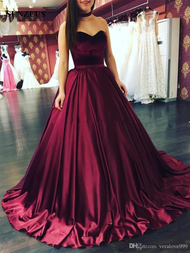 Bordo Gelinlik Modelleri Yeni 2019 Kadife Uzun Parti Abiye Kadın vestidos de graduacion largos