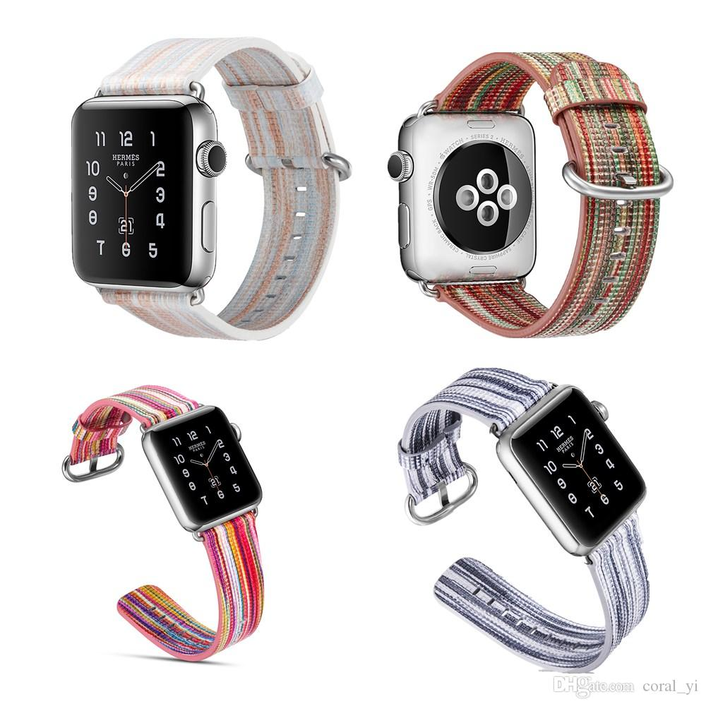 colorful Watch Accessories Genuine Leather For Apple Watch Band 44mm 40mm & Apple Bands 42mm 38mm Series 4 3 2 1 Watch Strap