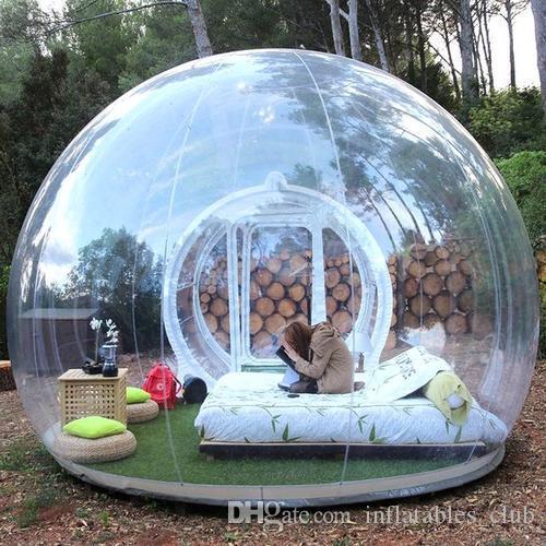 Hermosa burbuja inflable tienda de la bóveda 3M diámetro de la burbuja al aire libre del hotel con el soplador de fábrica burbuja transparente al por mayor Casa barato!