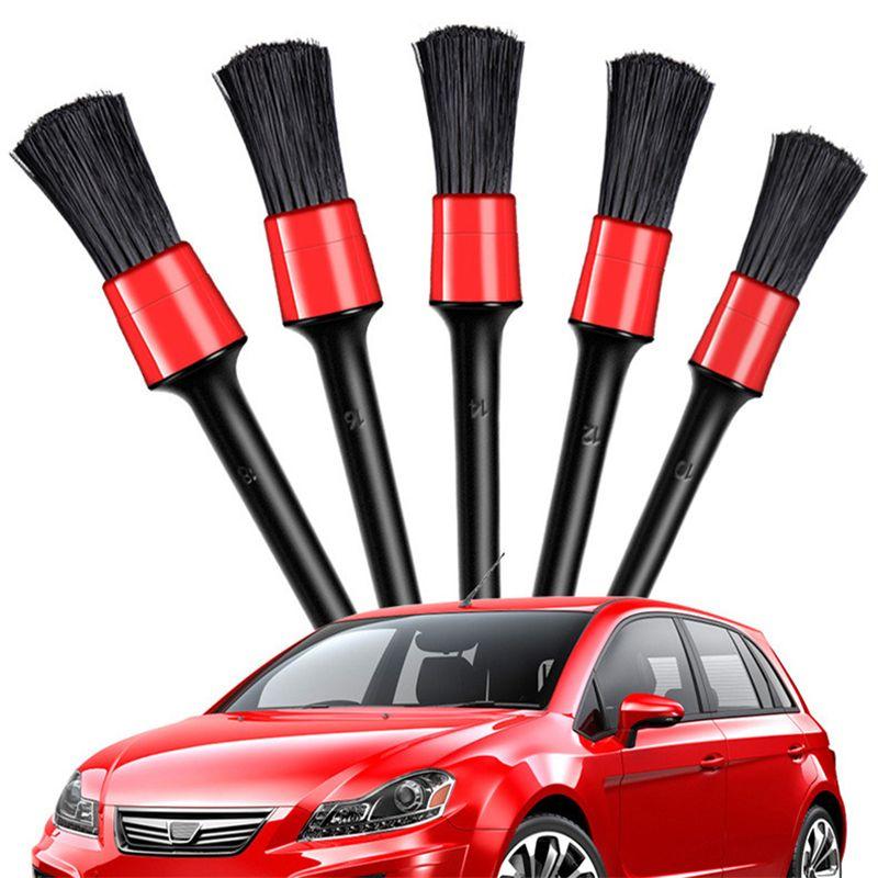 5 шт. Кисть для мытья автомобиля для стирки автомобиля интерьер для чистки колес зазора колеса RIMS Dashboard Air Vent Trim Trument Tool