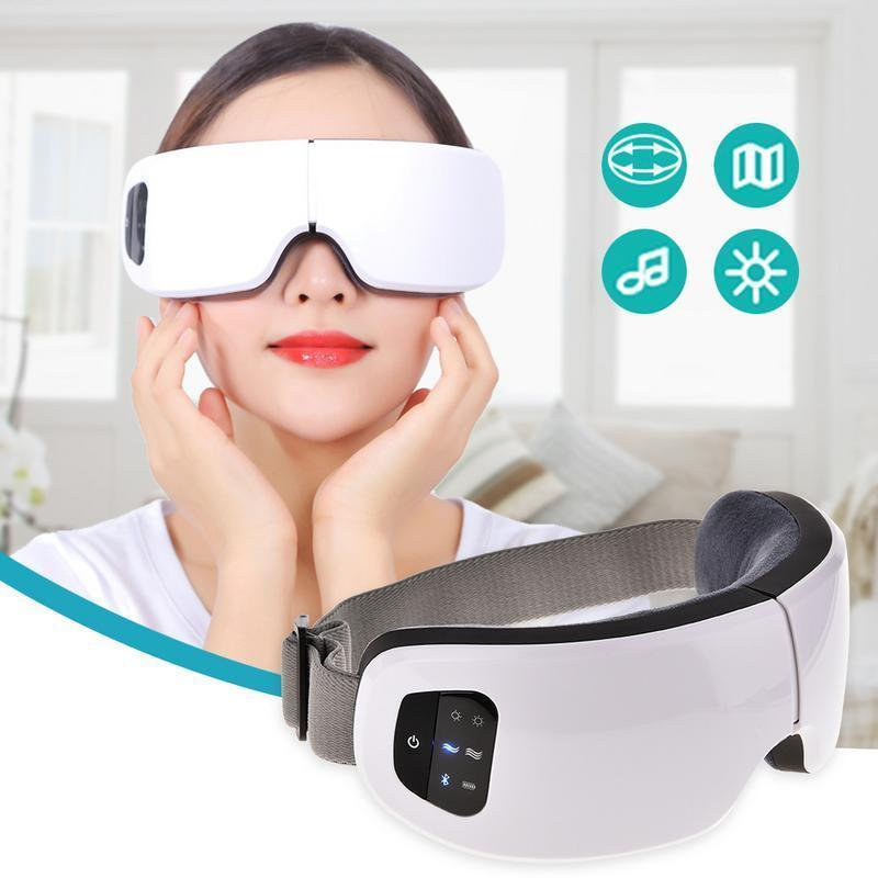Eyes Tool 6s Wireless Usb Rechargeable Bluetooth Foldable Eye Massager Adjustable Air Pressure Eye Christmas Gift T190712
