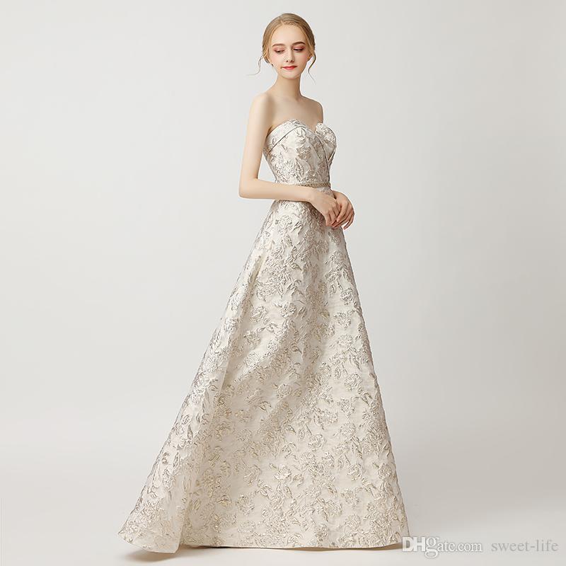 100% immagine reale A-Line elegante abito da ballo cristallo fascia senza spalline abiti per occasioni speciali con tasche abiti da sera lunghi maxi abito 5212