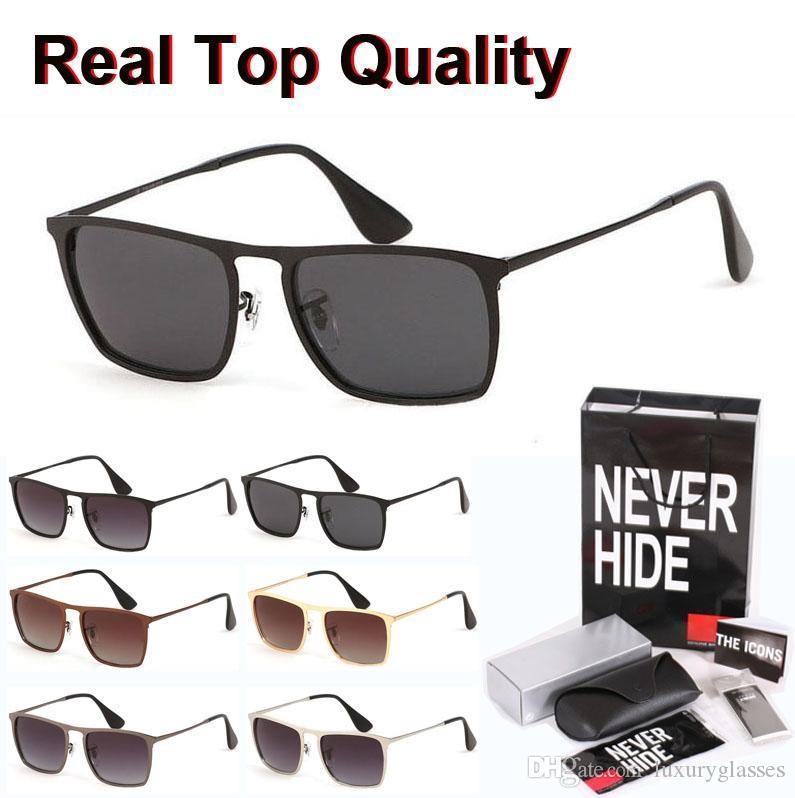 Primera marca marco gafas de sol polarizadas Mujeres Hombres Meta Gafas de sol Gafas de sol con la caja original, paquetes, accesorios, todo!