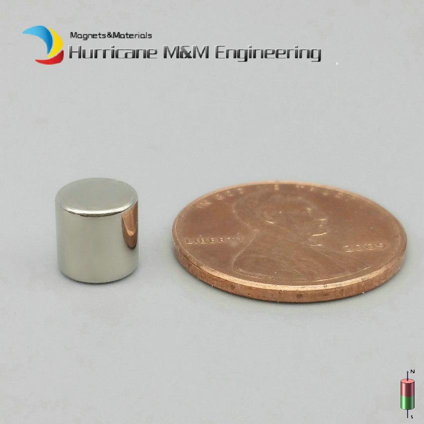 """48-3000pcs Ndfeb Aimant Cylindre 6.35x6.35 Mm Tige 0.25 """"Aimant Disque Ndfeb 1/4"""" x1 / 4 """"Épais Néodyme Forte Terre Rare En Vente"""