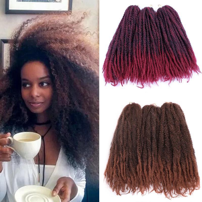 Jumbo Cрючковые косы волосы OMBRE AFRO KINKI Soft Synthetic Marley плетение волос вязание крючком наращивание волос навсегда