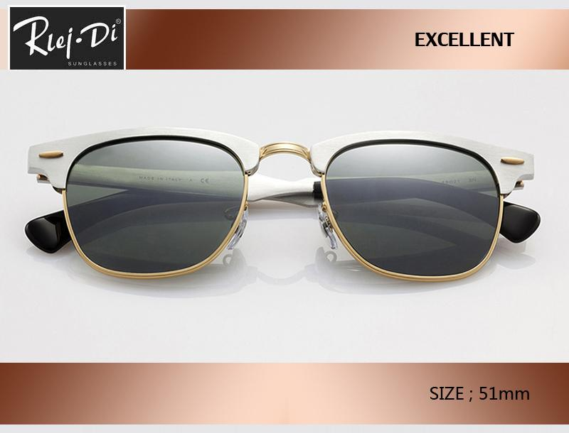 neuer heißen Verkauf Aluminium Retro-Club 51mm Master Sonnenbrille Markendesigner Jahrgang Frauen Männer rd3507 Beschichtung rosa Steigung gafas Sun-Gläser.