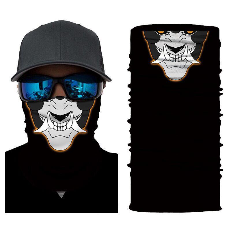 Motocicleta 3d à prova de vento equitação cachecol crânio máscara de rosto mágica cabeça esqui balaclava homens mulheres