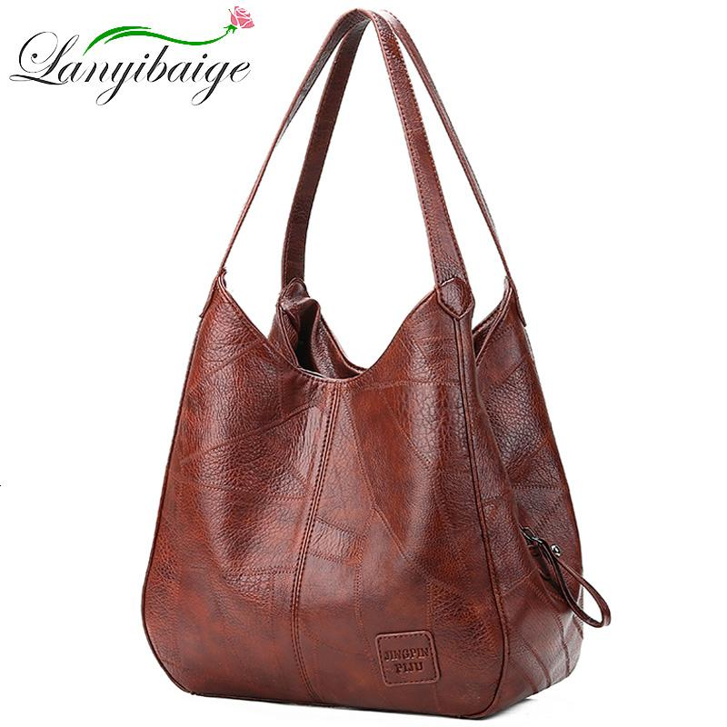 2019 Vintage Women Shoulder Bag Female Causal Totes Bags Large Capacity Luxury Designer High Quality Ladies Handbag Sac Femme MX191108