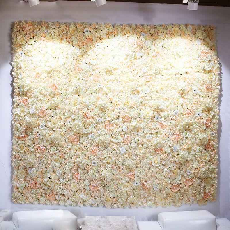 40x60cm искусственного шелка Роза Гортензия цветок стены Свадебные украшения заставок панели Day Party Decor Поддельные Цветы Валентина