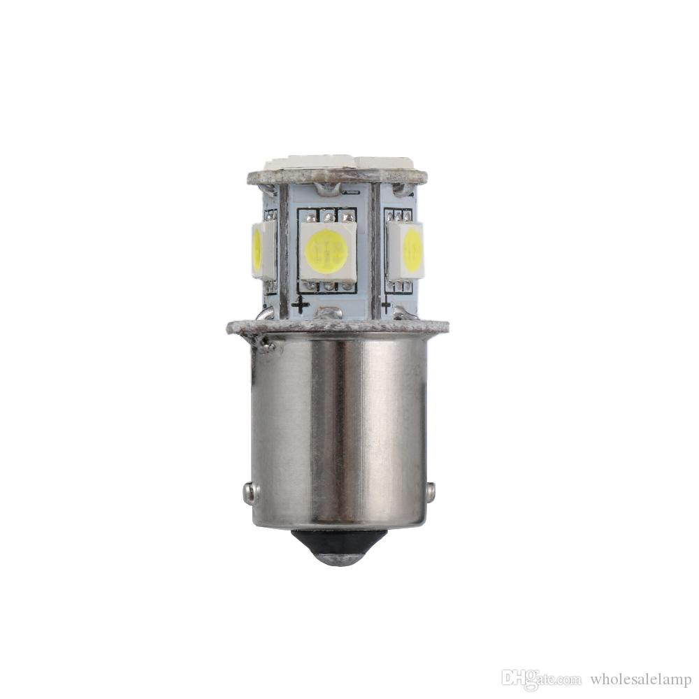 2 pezzi BA15S R5W 1156 5050 8SMD Lampadine LED per luci dei freni dellautomobile Luce Bianca