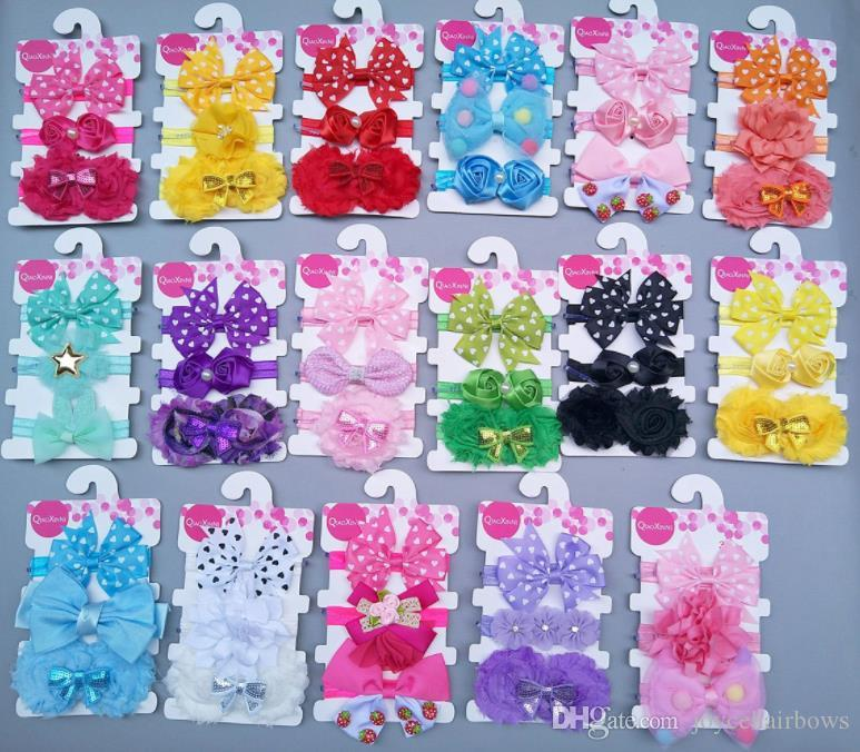 free shipping 12set girl baby headbands flower fashion girl accessories big shabby chic headband