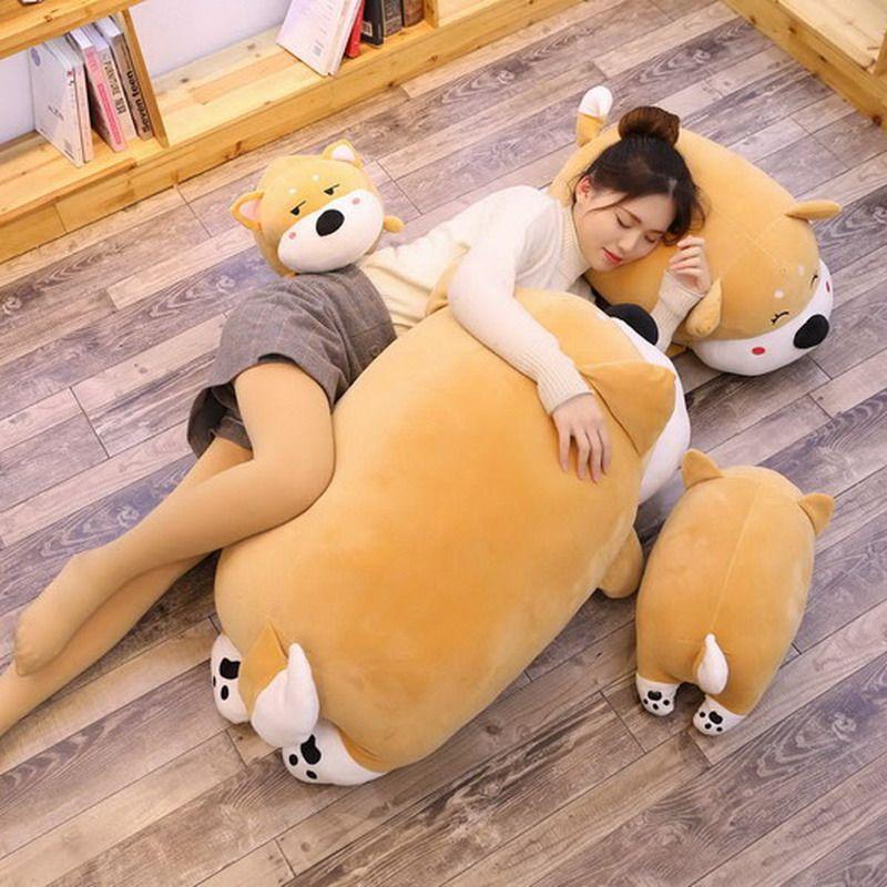 Новый милый сиба-ину кукла толстый щенок плюшевые игрушки спать успокоить мягкие милые куклы дети подарок на день рождения 39 дюймов 100 см DY50644