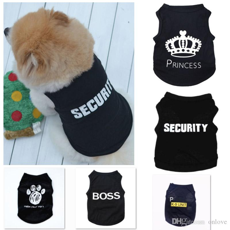 5 stili del cane di estate i vestiti capi di Cat Vest New Small maglione Pet Supply vestiti del fumetto maglietta per Puppy economico tuta Outfit XD22318