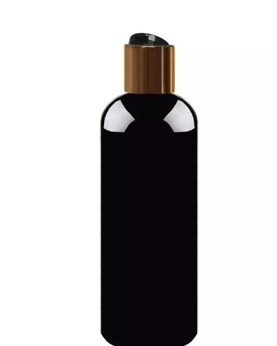 500ml 검은 빈 플라스틱 샴푸 병 뚜껑 DIY 로션 페트병 골드 캡, 투명 화장품 포장 60pcs와 함께