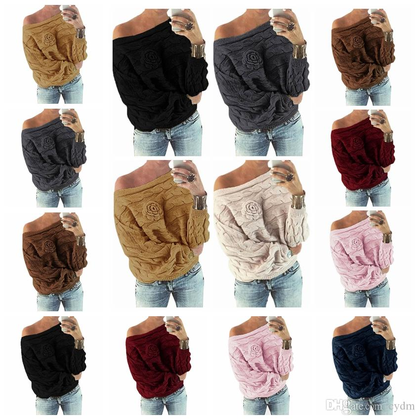 Maglione girocollo a manica lunga con scollo a V, magenta, bianco, rosa, giallo, rosso, verde, nero, supporto misto