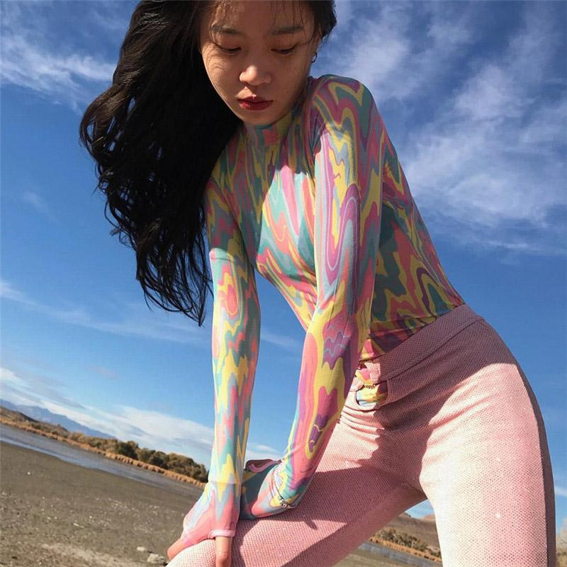 2019 Women'S Clothing Printed Tight Fitness Suit Bodysuit Cosplay Spoof Graffiti Adult Stage Uniform Playsuit Jumpsuits Romp
