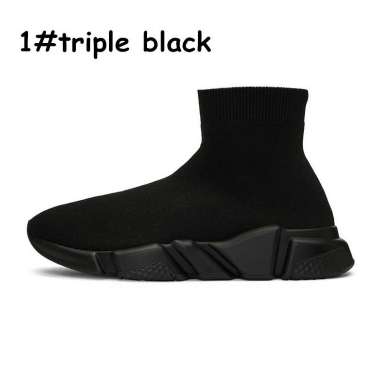 2020 tasarımcı moda ayakkabılar Hız Eğitmen gri siyah beyaz yeşil Düz Klasik Çorap dantel kutusu ile erkek eğitici Sneakers spor womens kırmızı