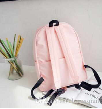 Yeni kadınların gündelik naylon sırt çantası açık trend seyahat çantası 05