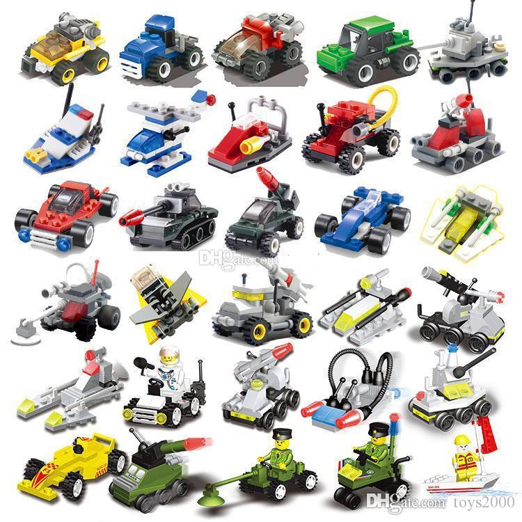 Мини-головоломки мелкие частицы собраны военные небольшие блоки Aircraft танки строительный блок Детские игрушки детсада подарки educationa