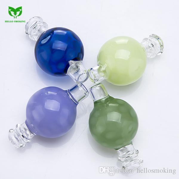 Diamond Glass Carb Cap for Large Bowl Thermal Quartz Banger Nail Enail Universal Round Ball Smoking Oil Dab Rig DHL 843