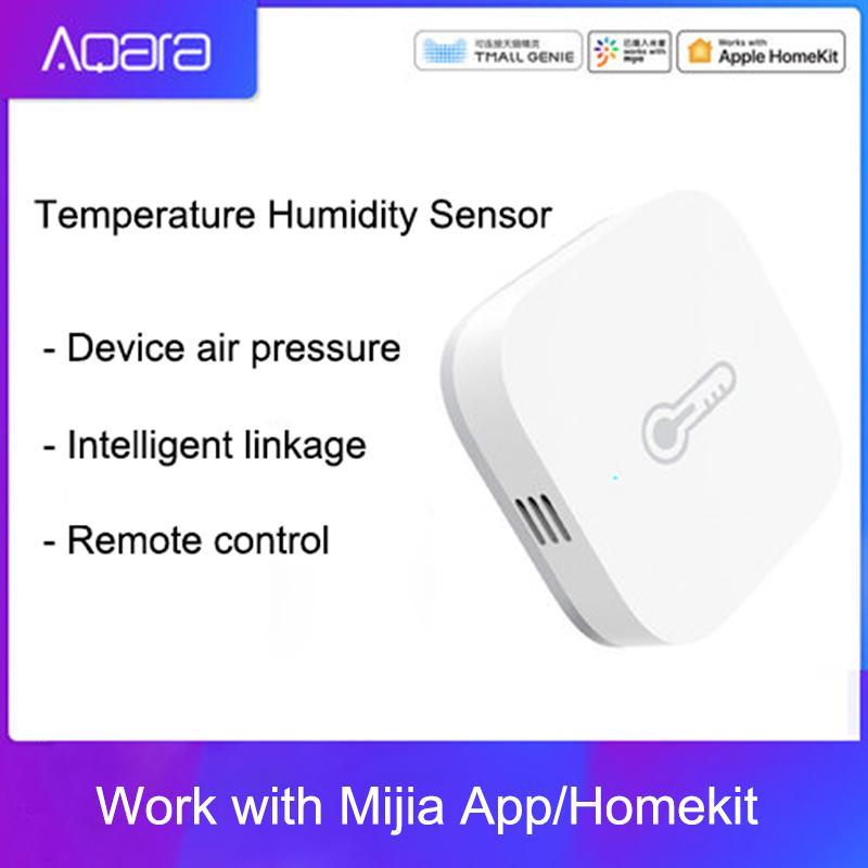 안드로이드 IOS APP 빠른 선박의 저렴한 빌딩 자동화 새로운 원래 Aqara 온도 습도 센서 스마트 홈 장치 공기 압력 작업