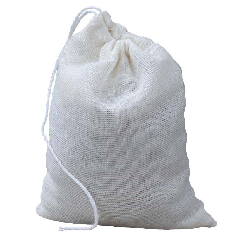 100 pic10 * 15cm bolsas de baño de pie de algodón puro para gasa marinada fragantes hojas de hierba de ajenjo al vapor a base de hierbas bolsas de burbujas de pie para bolsas de sopa