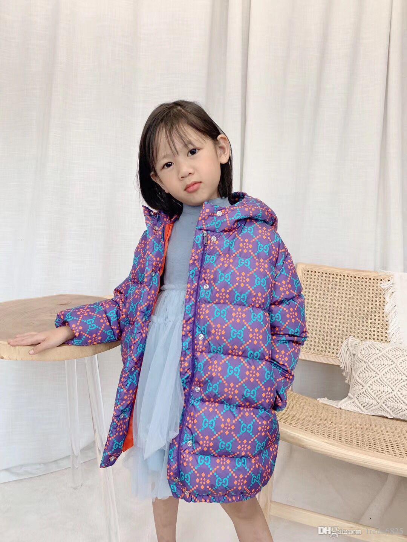 Kızlar Aşağı ceketler Bebek Açık Giyim Kalın Coats Windproof Çocuk Kış Ceketler Çocuk Karikatür Kış Kabanlar Isınma