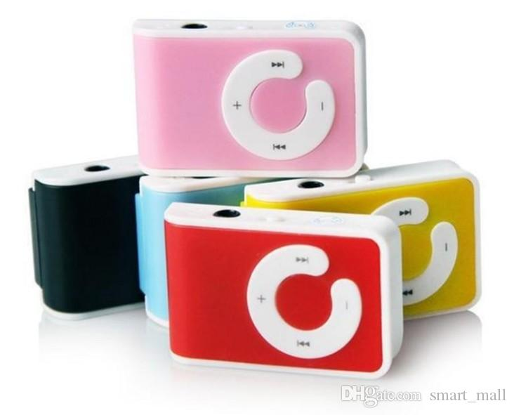 Christmas Gift New Mini Clip USB Mp3 Player with Card Slot Support Micro TF Card Without Retail Box 4 Model Style LLFA