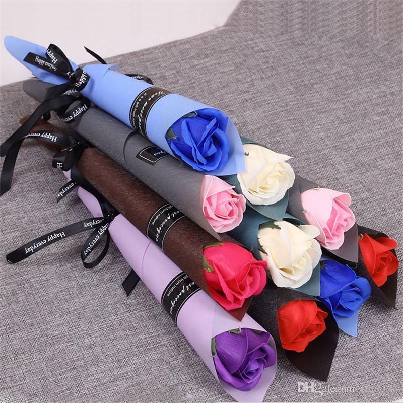 Festival de San Valentín Festival Embalaje Embalaje Flowers Packaging Single Rose Rifle Packaging Bag para flor de ramo de rosa