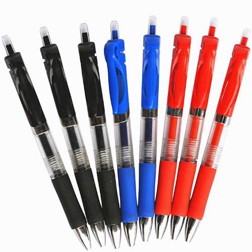 0.5 ملليمتر الصحافة هلام أقلام رصاصة حمراء / أزرق / أسود حبر الرصاص الأنف القلم استبدال الأحبار مكتب المدرسة القرطاسية الأسطوانة