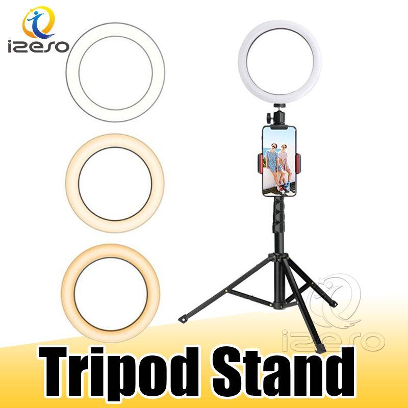 LED Ringlicht mit Stretchable Stativ Selfie Stock-6-Zoll-8-Zoll-10-Zoll-dimmbare Deckentisch Ringförmige Lampe für Selfie Makeup izeso