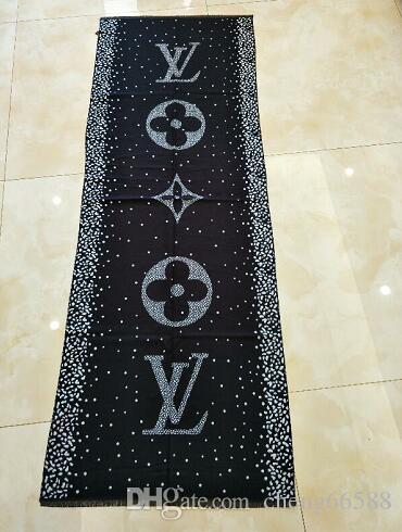 2020 novo Hot venda da marca cachecol de alta qualidade Silk grifes Scarf moda floral cachecóis xale para as mulheres Tamanho W12 preta
