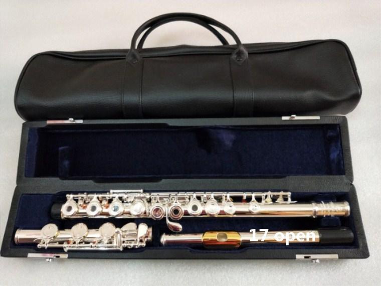 جودة عالية حقيقية الناي 471 17 حفرة مفتاح E مفتوحة C الناي الأساسي فضة النيكل instrumentos الموسيقى flauta المهنية