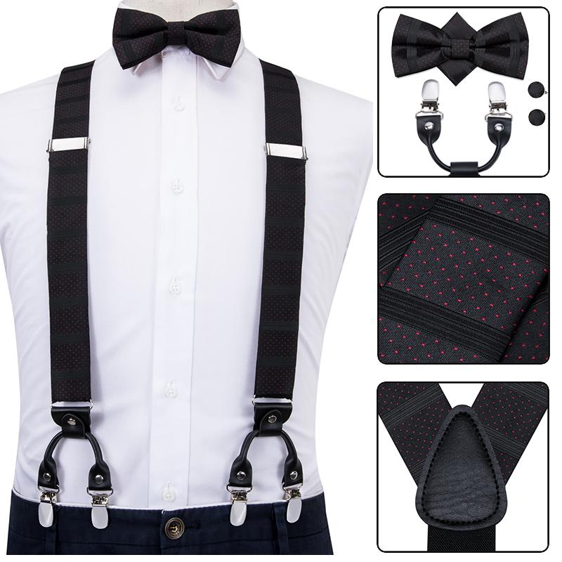 Yellow Suspender Clip on Bow-Tie Matching Set for Adults Men Women
