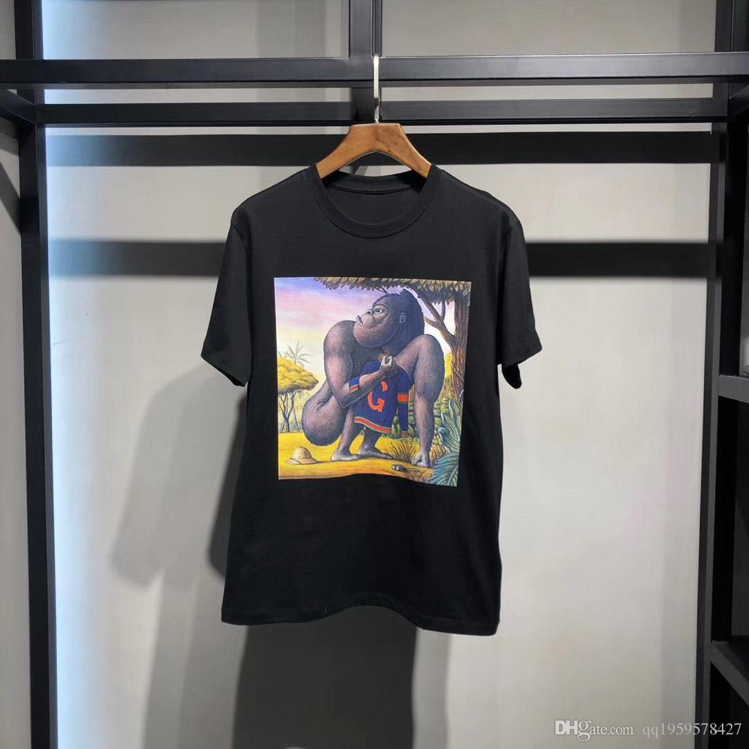 2020ss camisa para hombre del diseñador T de las mujeres ropa de la marca de lujo de la moda de París camiseta del verano de calidad superior 100% algodón masculina Top Tees KL7069087