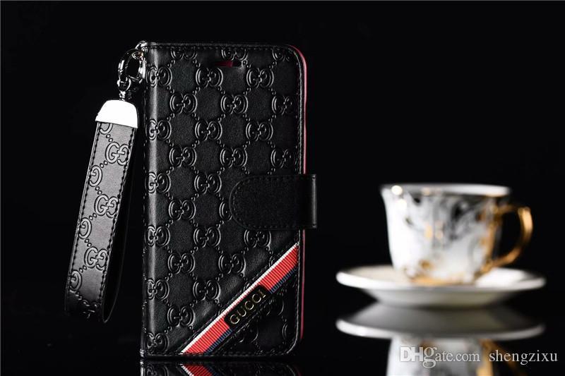 Роскошный тиснение кожаный бумажник чехол для iPhone X X Max Max чехол для телефона для iphone 8 7 7 плюс 6 6 s плюс мода фирменный откидная крышка