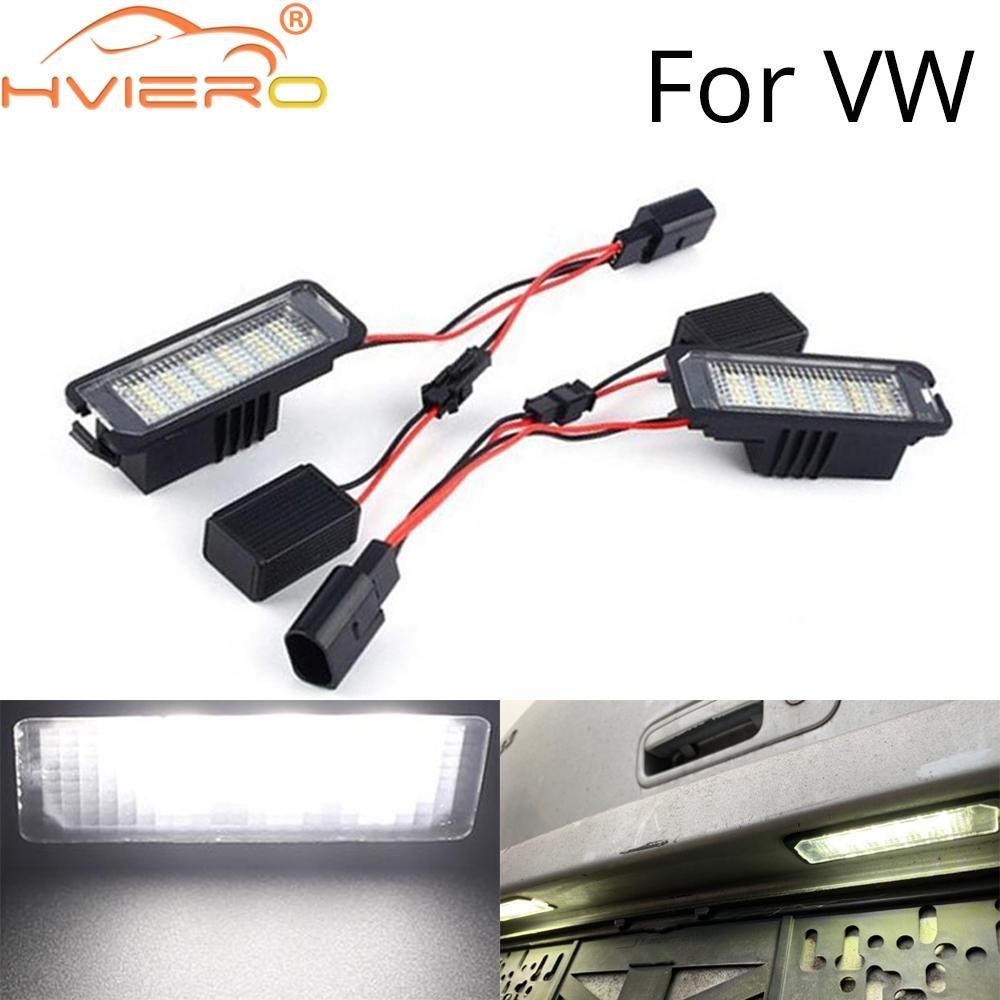 2X السيارات LED رقم لوحة ترخيص أضواء مصابيح ل vwgolf 4 5 6 7 سيارة ضوء دراجة نارية زينون لمبة عكس الحياة لفترة أطول